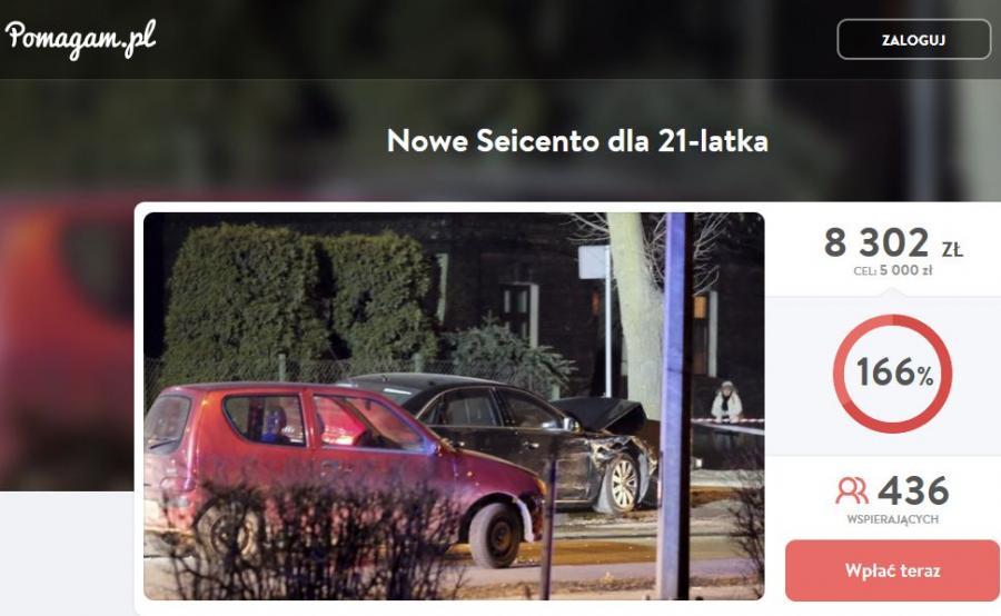 Akcja zbiórki pieniędzy na fiata seicento