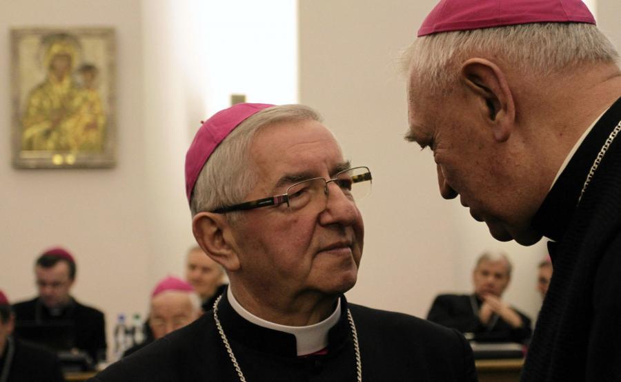 Arcybiskup Leszek Sławoj Głódź na zebraniu Plenarnym Konferencji Episkopatu Polski