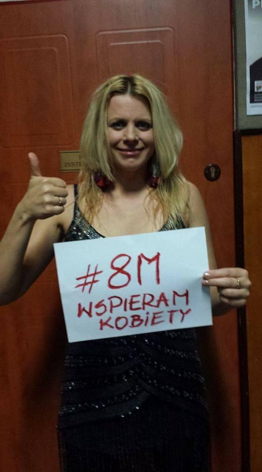 Maria Sadowska popiera Strajk Kobiet 8 marca / zdjęcie z profiul Strajk Kobiet