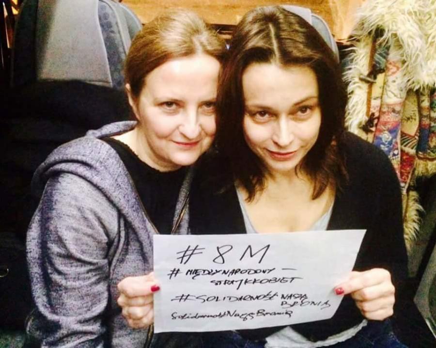 Izabela Kuna i Renata Dancewicz popierają Strajk Kobiet 8 marca / zdjęcie z profiul Strajk Kobiet