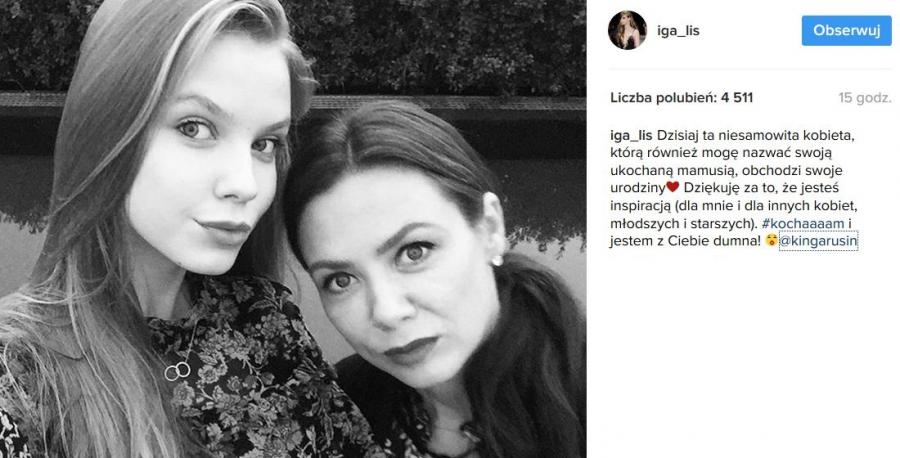 Kinga Rusin z córką Igą